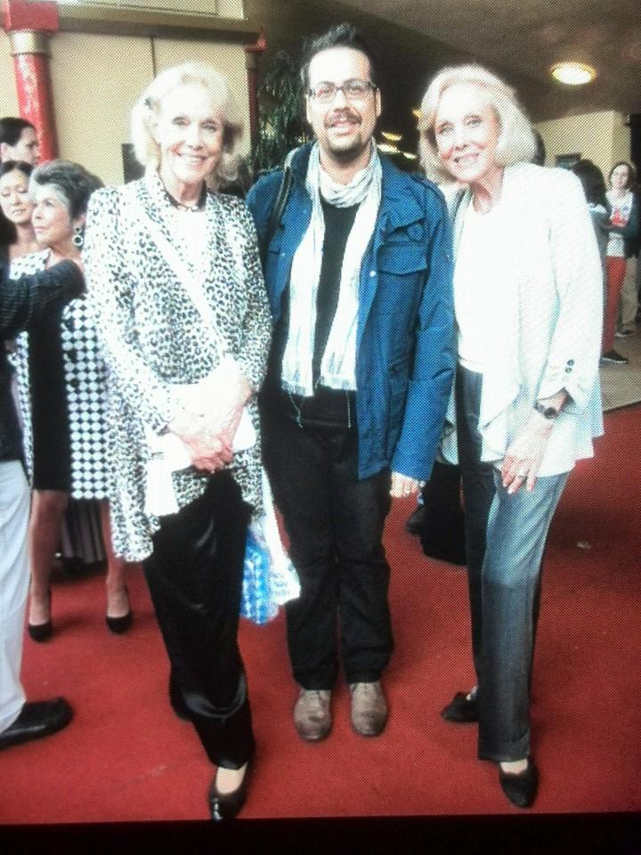 Matteo Tuveri con Alice e Ellen Kessler a Monaco di Baviera.