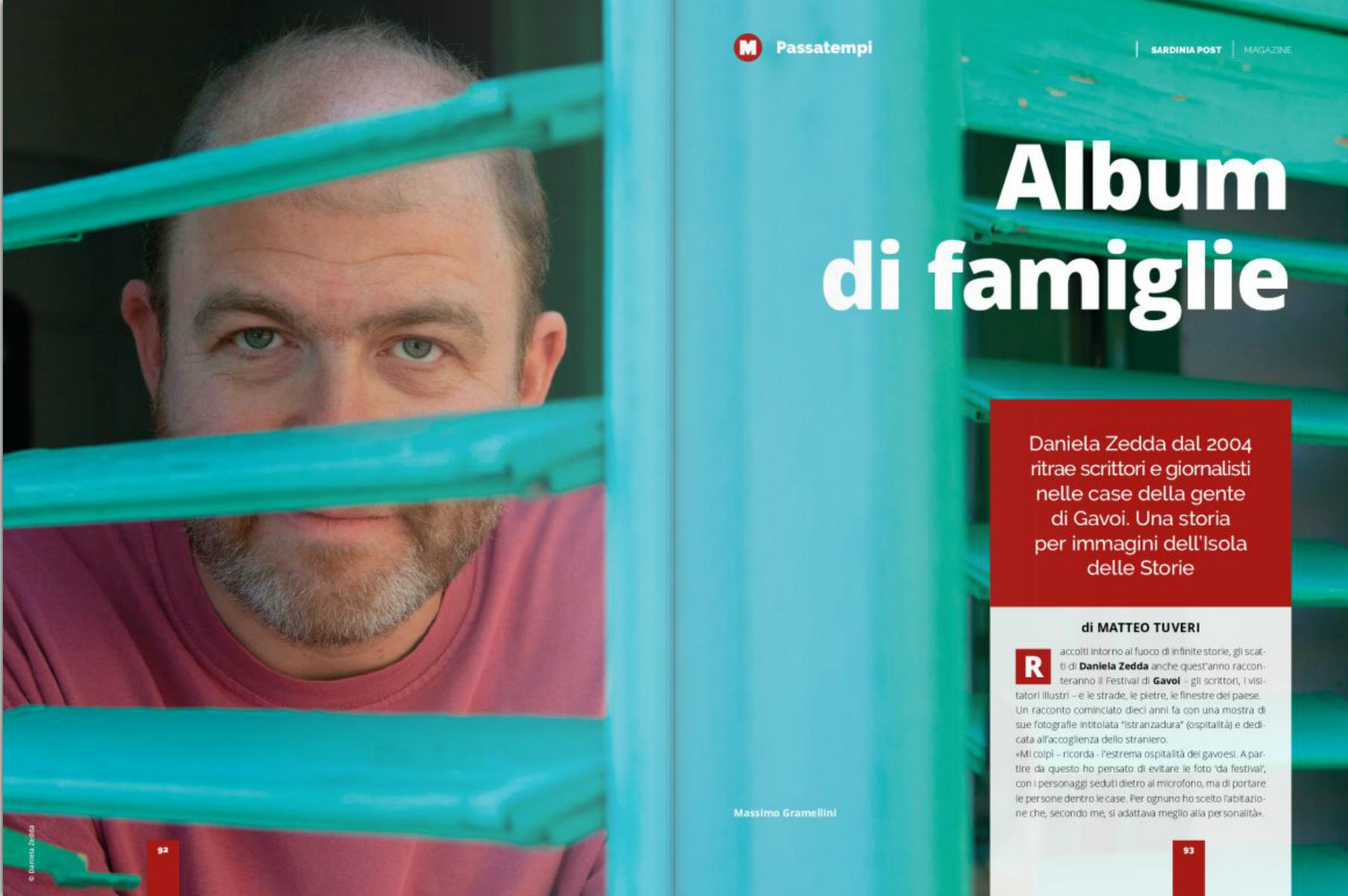 Album di famiglie, l'articolo di Matteo Tuveri sul primo numero di Sardinia Post Magazine