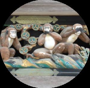 Ciechi e sordi alla meta, un racconto di Matteo Tuveri (picture CC0 Public Domain: Le tre scimmie sagge, Tōshōgū shrine, Nikkō, Japan)