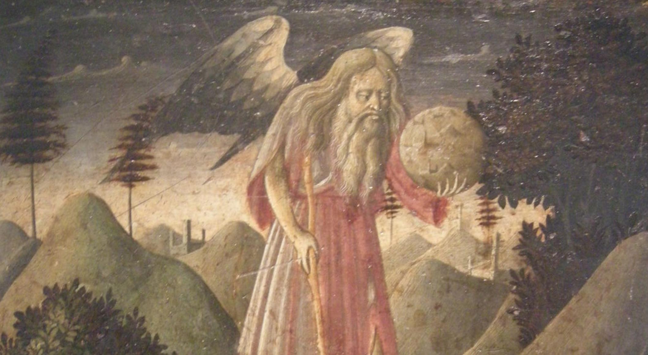 """Trionfo del tempo, Zanobi Strozzi, illustrazione per la novella """"Piccolo uomo indifferente"""" di Matteo Tuveri©www.matteotuveri.it"""