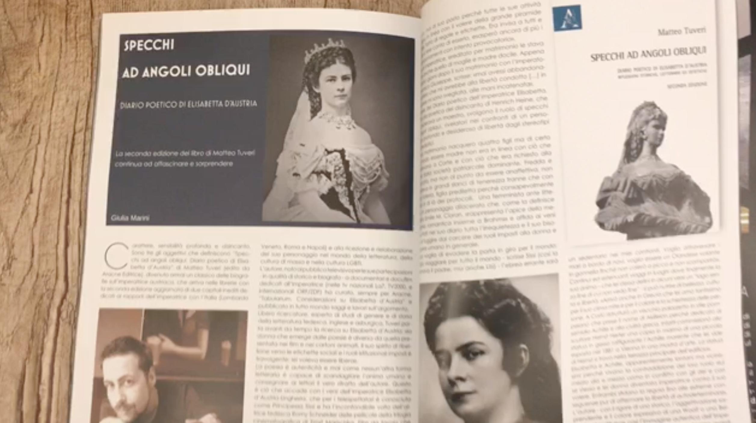 Specchi ad angoli obliqui. Diario poetico di Elisabetta d'Austria. Recensione su Eudonna Magazine.